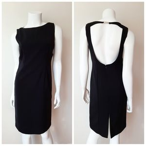 Clifford & Wills Dresses - Clifford & Wills Black Open Back Sleeveless Dress